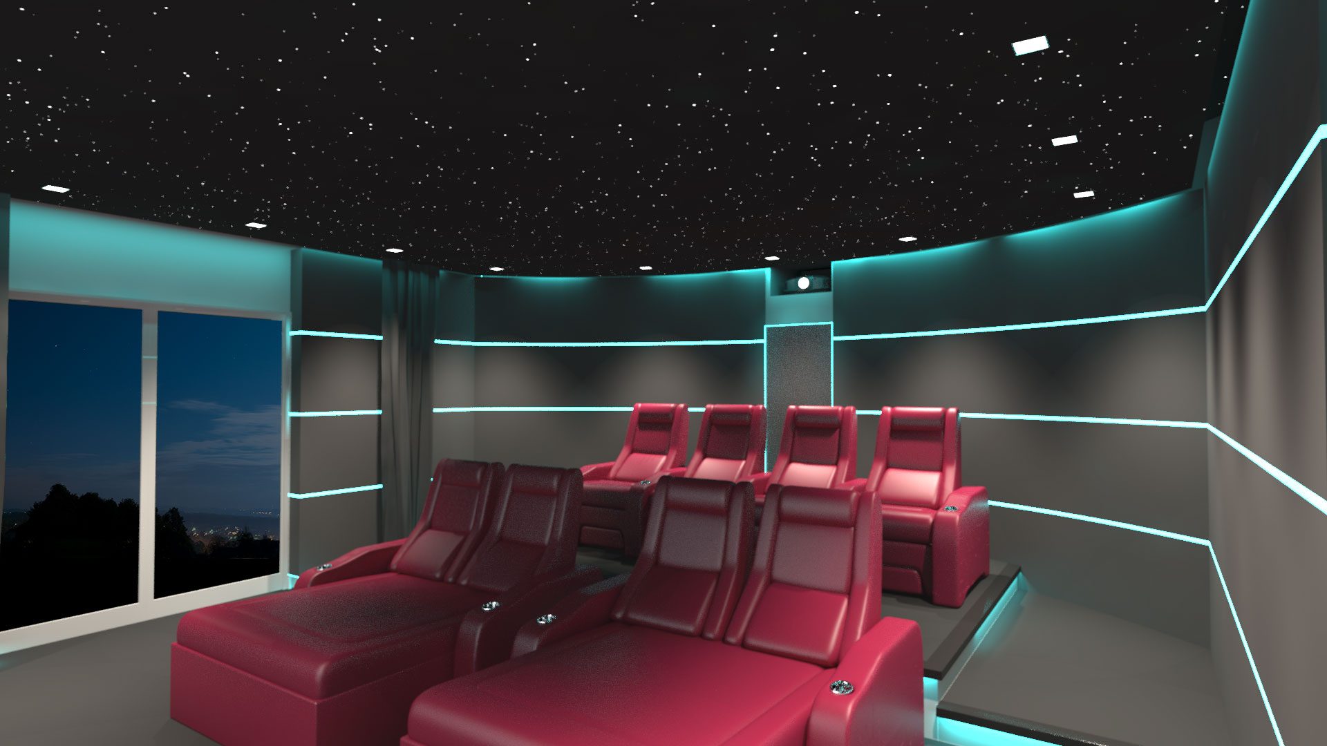 Platinum Vision Private Home Theater Cinema Seating