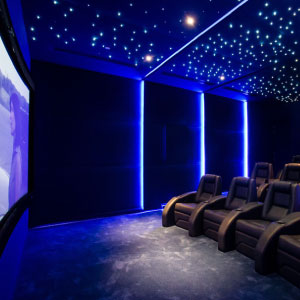 Private Home Theater Cinema by Platinum Vision